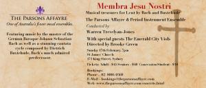Membra Nostri flyer